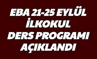 21-22-23-24-25 Eylül İlkokul TRT EBA Ders Programı Açıklandı-İşte 1.2.3.4. Sınıf Ders Saatleri ve EBA Girişi