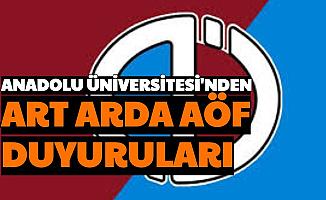 Anadolu Üniversitesi'nden Art Arda İki AÖF Duyurusu: Tarih Açıklandı