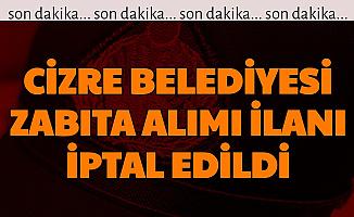Cizre Belediyesi, Koronavirüs Nedeniyle Zabıta Alımı İlanını İptal Etti