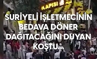 İstanbul'da Suriye Uyruklu Bir Kişinin Döner Dükkanı Açılışında İzdiham Meydana Geldi