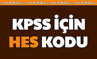 KPSS İçin HES kodu (Nedir , SMS ve E Devlet ile HES Kodu Alma)