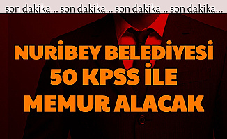 Nuribey Belediyesi 50 KPSS ile Memur Alımı Yapacak