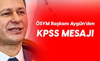 ÖSYM Başkanı'ndan KPSS Paylaşımı: Emeği Geçen Herkese Teşekkür Ederim! (KPSS Sınav Soruları, Cevapları ve Sonuçları için Bekleyiş Başladı)