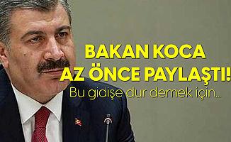 Sağlık Bakanı Fahrettin Koca'dan 13 Eylül Koronavirüs Tablosu Sonrası Değerlendirme