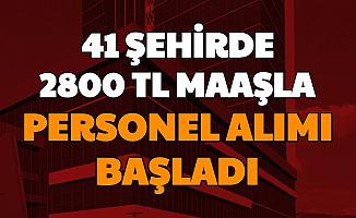 41 Şehirde Başvurular Başladı: İŞKUR'dan 2800 TL Maaşla Personel Alımı