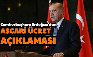 Cumhurbaşkanı Erdoğan'dan Asgari Ücret Çıkışı