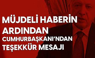 Cumhurbaşkanı Erdoğan'dan Aşı Müjdesinin Ardından Tebrik Mesajı