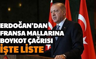 Erdoğan'dan Fransa'ya Boykot Çağrısı: İşte Fransa Malları Markaları Listesi