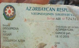 Ermenistan'ın Saldırısında Şehit Olan Nigar'ın Kimliğindeki Detay Kahretti
