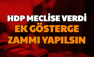 HDP'den Polis, Hemşire, Din Görevlileri ve Öğretmenlere 3600 Ek Gösterge Zammı Teklifi