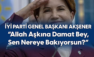 İYİ Parti Genel Başkanı Meral Akşener: Allah Aşkına Damat Bey, Sen Nereye Bakıyorsun?