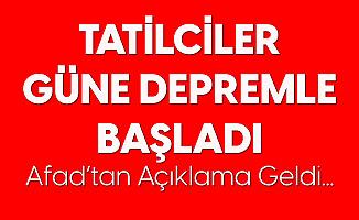 İzmir Çeşme Açıklarında 3.7 Büyüklüğünde Deprem Meydana Geldi