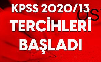 KPSS 2020/13 Tercih Kılavuzu Yayımlandı