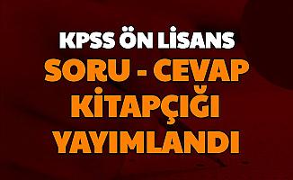 KPSS Önlisans Soru ve Cevapları Yayımlandı