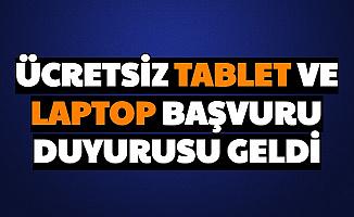 Milli Eğitim Ücretsiz Tablet Başvurusunu Açıkladı (Devlet Bedava Tablet ve Laptop Başvuru Formu)