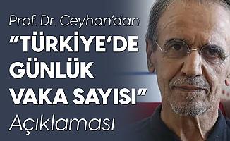Prof. Dr. Mehmet Ceyhan: Günde Tahmini Olarak 10 Bin Vaka Var
