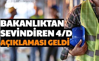 Taşeronda Son Dakika Haberi: Hükümetten 4/D İşçiler İçin Sevindiren Ücret Açıklaması
