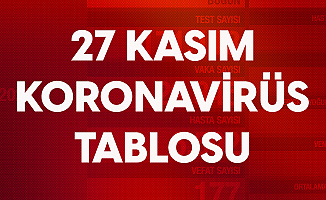 27 Kasım Koronavirüs Tablosu
