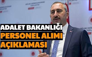 Abdulhamit Gül'den Adalet Bakanlığı'na Personel Alımı Açıklaması