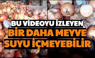 Bu Videoyu İzleyen Bir Daha İçemeyebilir: Çürük Kurtlu Meyvelerden Meyve Suyu Yapılıyor İddiası