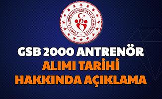 GSBB 2000 Antrenör Alımı Başvuru Tarihi Hakkında Açıklama: İşte Şartları