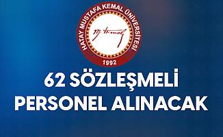 Hatay Mustafa Kemal Üniversitesi'ne Sözleşmeli Hemşire ve Ebe Alımı Yapılacak