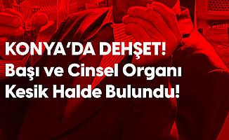 Konya'da Dehşet! Başını ve Cinsel Organını Kesti!