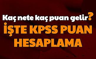 KPSS Ortaöğretim - Lise Puan Hesaplama: Kaç Nete Kaç Puan Gelir, Kaç Yanlış 1 Doğruyu Götürür, 70-80 Puan İçin Kaç Net?