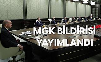 Milli Güvenlik Kurulu Toplantısının Ardından Bildiri Yayımlandı