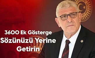 Müsavat Dervişoğlu: 3600 Ek Gösterge Sözü Tutulmadı, Bu Mağduriyet Giderilmelidir