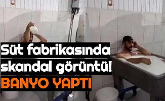 Süt Fabrikasında Skandal Görüntü: Çalışan Süt Kazanında Banyo Yaptı