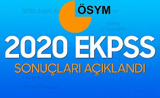 2020 EKPSS Sonuçları Açıklandı