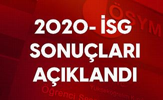 2020 İSG Sınav Sonuçları Açıklandı