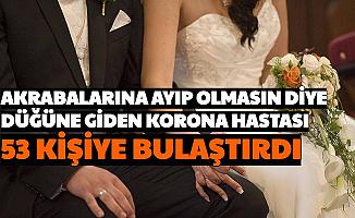 Karantinada Olması Gereken Kişi, Akrabalara Ayıp Olmasın Diye Düğüne Gitti: 53 Vaka