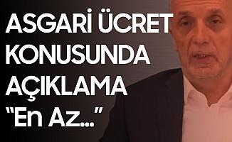 Türk İş Başkanı Ergün Atalay'dan Asgari Ücret Açıklaması: 3 Bin Liranın Üzerinde Teklif Getirilmelidir