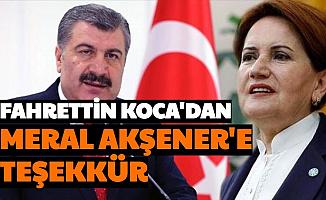 Akşener'in Açıklamasına Fahrettin Koca'dan Teşekkür