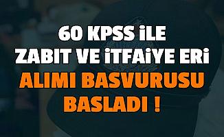 Çorum Belediyesi 60 KPSS ile İtfaiye Eri ve Zabıta Memuru Alımı Başvurusu Başladı