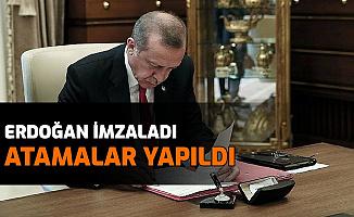 Erdoğan İmzaladı: Atamalar Yapıldı , O İsimler Görevden Alındı