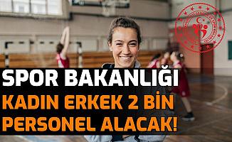 GSB Türkiye Geneli 2 Bin Kadın Erkek Personel Alımı Yapacak