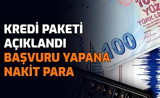 Kredi Paketi Açıklandı: Başvuru Yapana Nakit Para Verilecek
