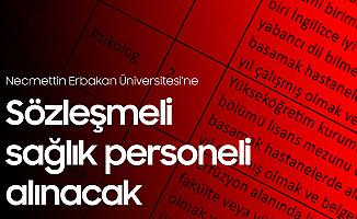 Necmettin Erbakan Üniversitesi'ne Sözleşmeli Sağlık Personeli Alımı Başvuruları Sürüyor