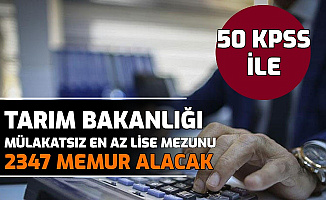Tarım Bakanlığı 50 KPSS ile 2347 Memur Alımı Yapıyor-İşte ÖSYM Ais Başvurusu 2009, 3067, 3021, 4825 Nitelik Kodu