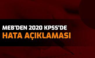 2020 KPSS'de Hatalı Soru İddiaları Gündeme Gelmişti: MEB'den Açıklama Geldi