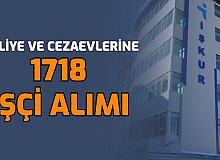 Adliye ve Cezaevlerine 1718 İşçi Alımı Yapılacak (Adalet Bakanlığı CTE)
