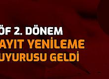 AÖF Bahar Dönemi Kayıt Yenileme Tarihleri Duyurusu Geldi (Anadolu Üniversitesi, ATA AÖF AUZEF)