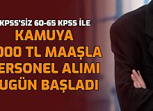 En Az Ortaöğretim: KPSS'siz ve 60-65 KPSS ile Personel Alımı Bugün Başladı
