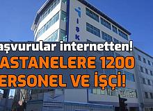 Hastanelere Türkiye Geneli 1200'den Fazla Personel ve İşçi Alımı