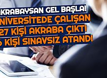 İzmir Katip Çelebi Üniversitesi'nde 27 Çalışan Akraba Çıktı