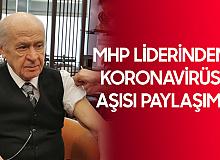 MHP Lideri Bahçeli Koronavirüs Aşısının İkinci Dozunu Yaptırdı