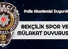 Polis akademisi'nden Bekçi Alımı Spor ve Sözlü Mülakat Duyurusu